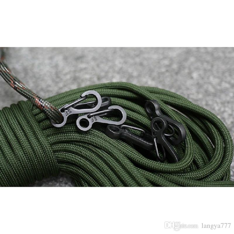 Mini SF Spring Backpack Clasps Climbing Carabiners EDC Keychain Camping Bottle Hooks Paracord Tactical Survival Gear A282
