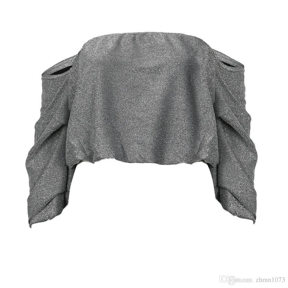 Haut sexy, lâche, brillant, corsage à poitrine chatoyante, tissu, vêtements pour femmes, vêtements féminins Haut sans bretelles, sans doublure, vêtement supérieur