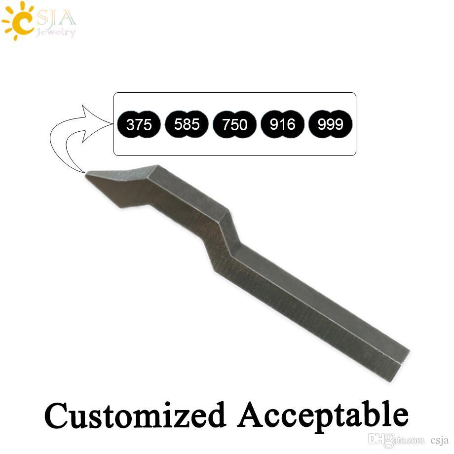 CSJA 375 585 750 916 999 Gold Silver Ring Bracelet Women Men Jewellery Making Tool Mark Stamp Customize Logo Metal Steel Mold E258