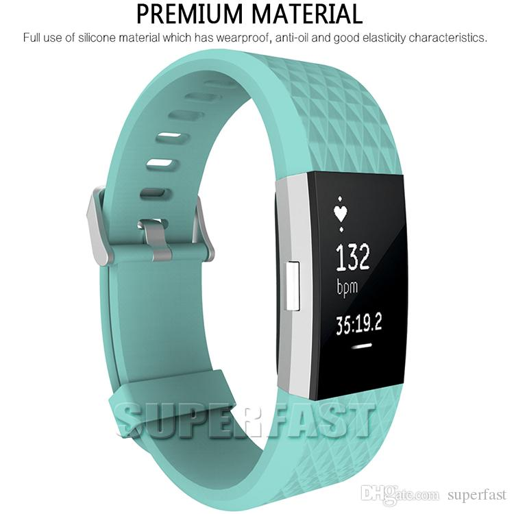 For Fitbit Charge 2 Replacement Sport Watch Band Silicone Smart Watch Bracelet Strap Sport Style Wristband Watches Band with OPP Package