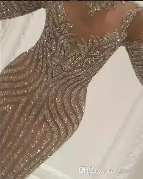 유세프 Aljasmi 차 르벨 조 긴 소매 드레스 저녁 착용 럭셔리 크리스탈 골드 이브닝 가운 Zuhair는 연예인 댄스 파티 가운을 무라드