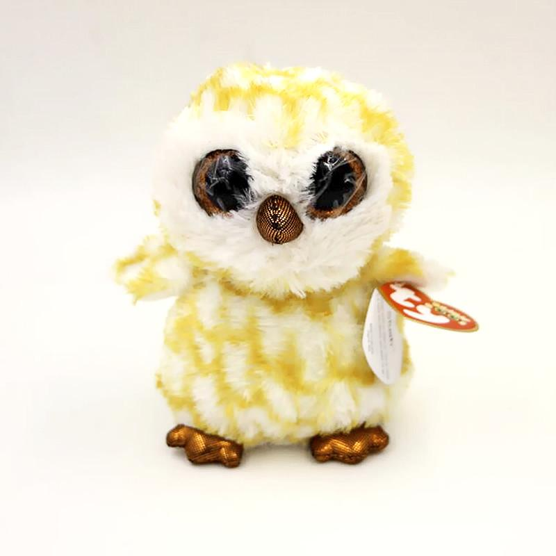 aabfd8ce074 16cm Ty Beanie Boos Big Eyes Owl Plush Toy Children Birthday Gift ...