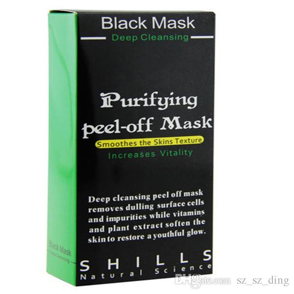 SHILLS Siyah Maske Siyah Nokta Remover Derin Temizleyici Arındırıcı Peel Akne Siyah Çamur Yüz Maskesi DHL freeDHL ücretsiz hediye