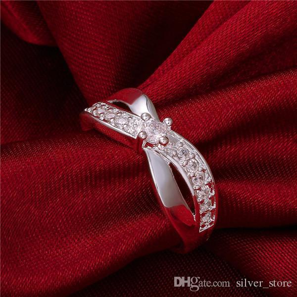 Bague de bijoux en argent sterling neuf en argent sterling SR162, Brand NOUVEAU GEMPSE WHITE 925 ANGLES D'ARGENT ANNEAUX ANNEAUX