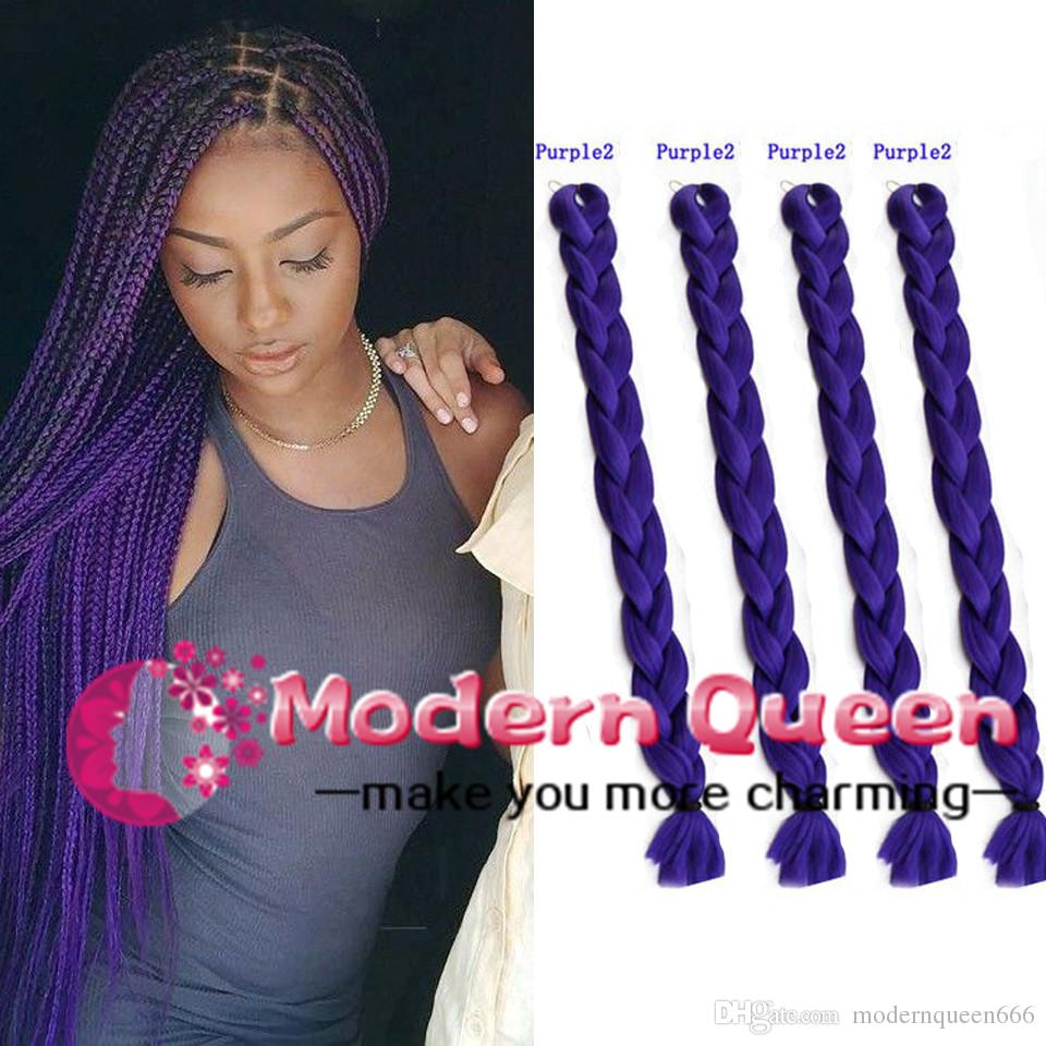 2018 Xpression Synthetic Braiding Hair 82inch 165grams Single Color Premium Ultra Braid Kanekalon Jumbo Extensions From Modernqueen666