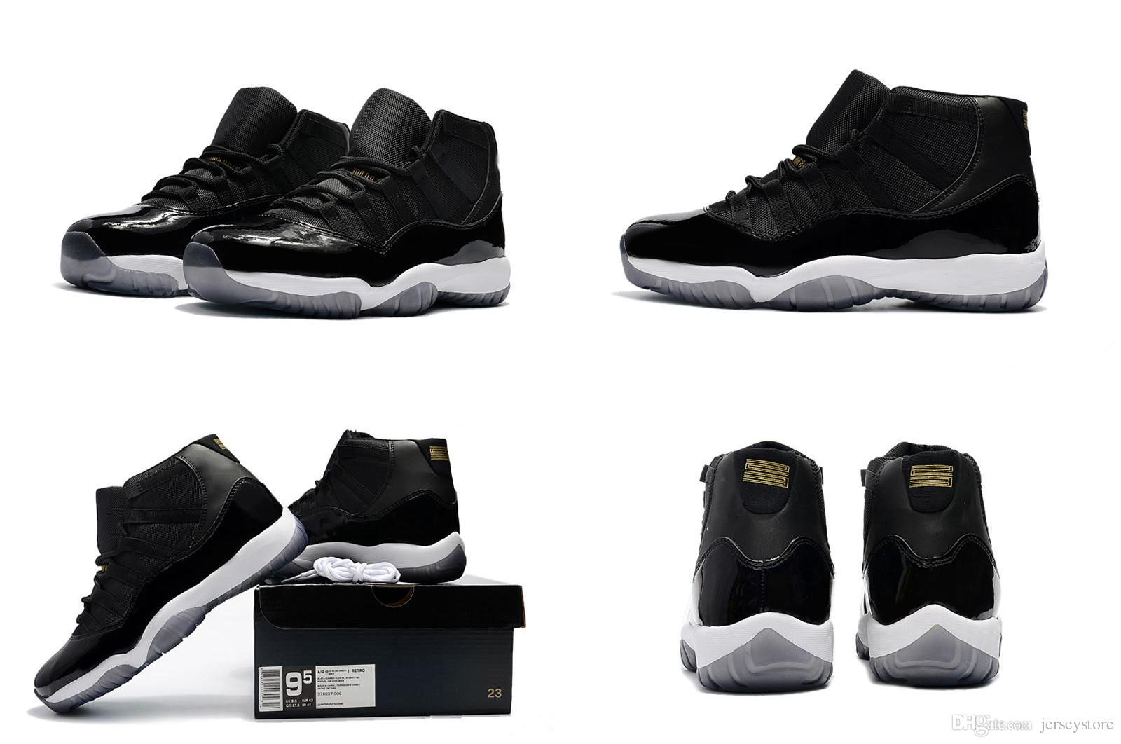 ae84e3336e1 ... 2018 New Products Men 11 Space Jam Bred Gama Blue Basketball Shoes Men  11s Concords 72 ...