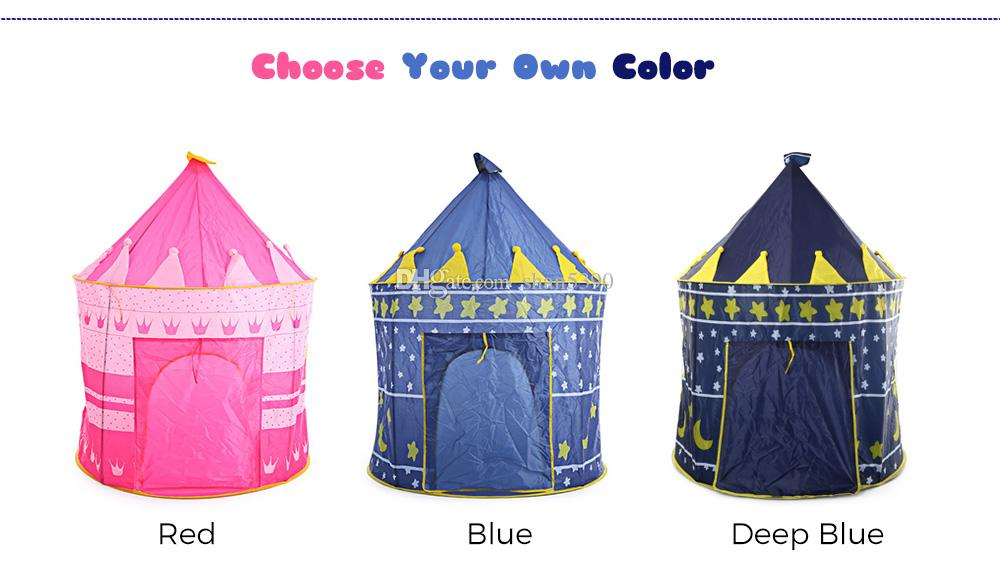 2017 HOT SELLING New Arrival Portable Blue Pink Prince Folding Tent Kids Children Boy Castle Cubby Play House For Kids Best Gift Blue Pink Prince Folding ...  sc 1 st  DHgate.com & 2017 HOT SELLING New Arrival Portable Blue Pink Prince Folding ...