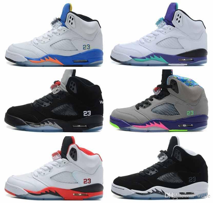 c83003f3d99 5 V OG Black Metallic Basketball Shoes For Men