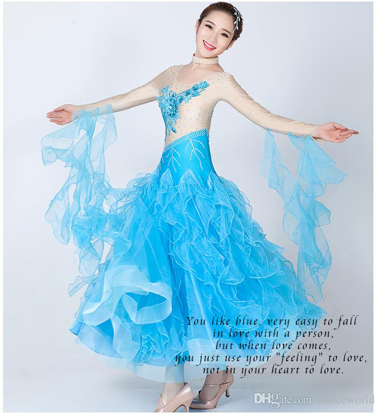 High-grade diamond embroidery dress modern dance waltz Tango Foxtrot quickstep costume competition clothing standard ballroom dance skirt