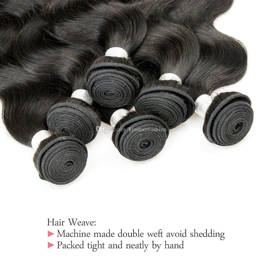 4 Bundle Deals Brazilian Virgin Hair Body Wave Human Hair Weave Bundles Natural Brown Afro Kinky Curly Silky Straight Loose wave Deep Curly