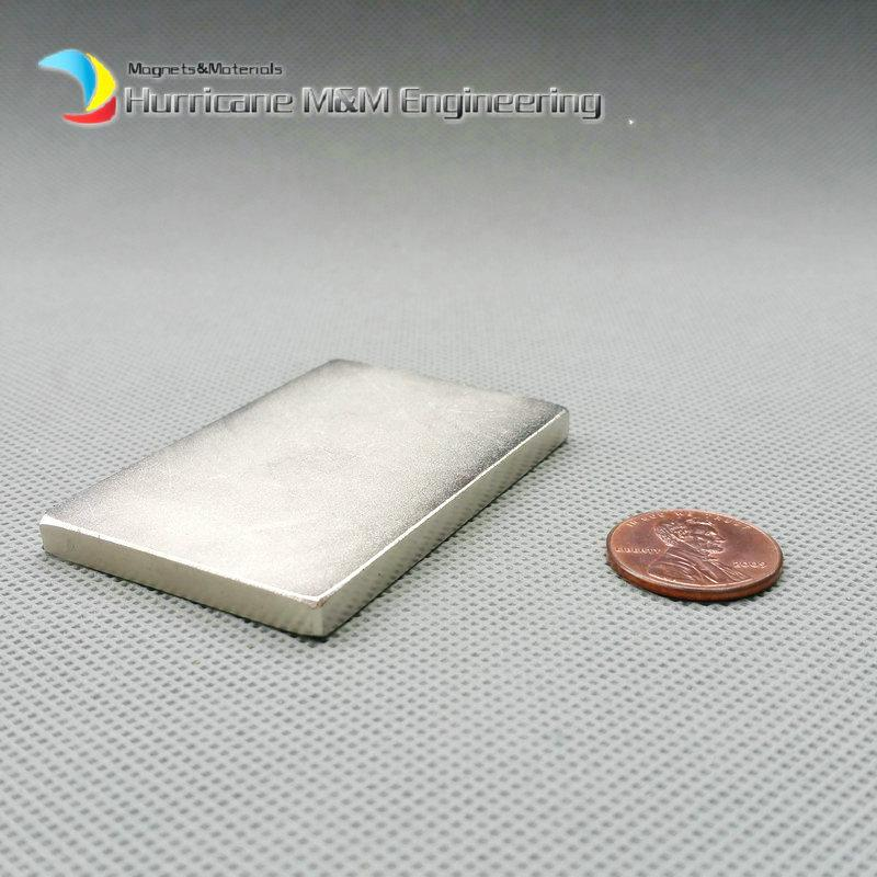 1 Pack Grade N52 NdFeB Block 60x40x5 mm about 2.36'' Tool Holding Magnet Bar Strong Neodymium Permanent Magnets Lifting Magnets