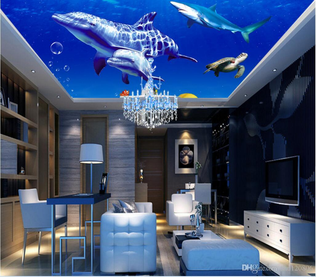 3d ceiling murals wallpaper custom photo non woven mural 3 for Ceiling mural wallpaper