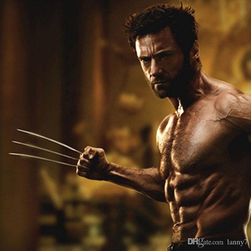 Oferta especial XMEN Wolverine GARRAFA de Aço Inoxidável XCLAW Faca Wolverine Garras Lâminas 2 Facas X-men Logan Cosplay X-men