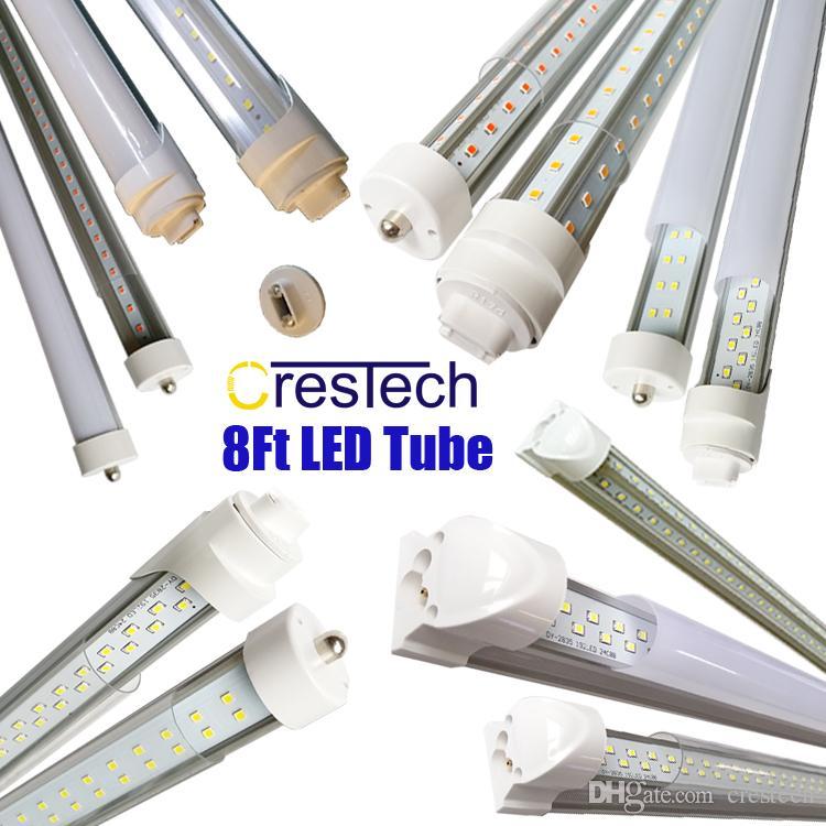 R17d Fa8 8ft Led Light Bulb 72w 7200lm 45w 4500lm Double Side V Shape Integrated 8 Foot Led Light Fixtures T8 Led Shop Lighting T8 Light T8