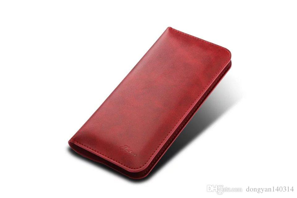 "New Multifunctional PU Leather Calf Skin Card Holder Wallet Case Bag for 4.7""-5.5"" iPhone 7 7plus Android Samsung Sony HTC"