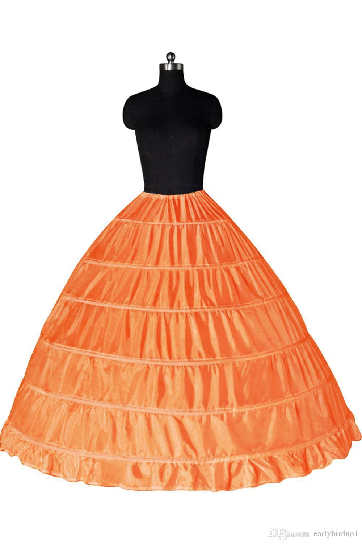 سوبر رخيصة الكرة ثوب 6 الأطواق ثوب نسائي الزفاف زلة قماش قطني تحتية الزفاف طبقات زلة 6 هوب التنورة ل quinceanera اللباس CPA206