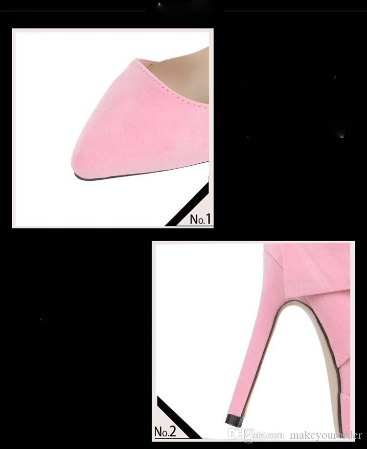 wholesaler factory price hot seller new-model bowknot frosted high-heel shoes office lady shoes bride sexy shoe