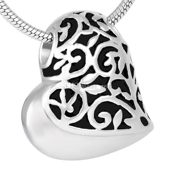 화장 쥬얼리 Heart Urn Keepsake 펜던트 목걸이 목걸이 스테인레스 스틸 메모리 쥬얼리 유적 Keepsake Urn Necklace