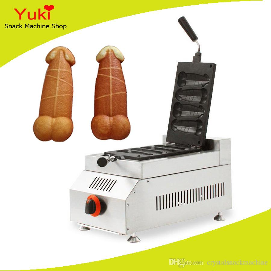 2018 commercial rotary gas penis waffle maker muffin hot. Black Bedroom Furniture Sets. Home Design Ideas