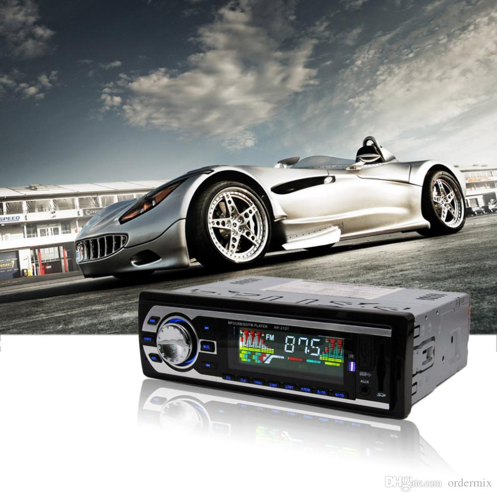 Lettore MP3 da auto / Display LCD / 7388 IC / 12V / HP-2127 Autoradio MP3 Supporto originale Scheda di memoria USB / SD / MMC / FM / WMA / Telecomando