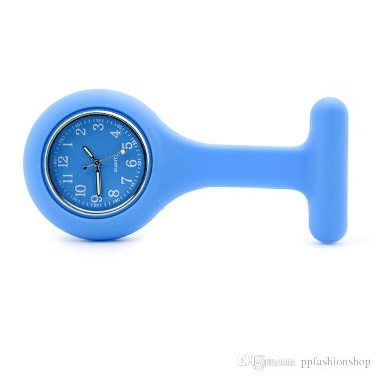 Arbeiten Sie hochwertige Uhren, Silikonkrankenschwestertaschenuhr, Kastentisch, hängende Tabelle des Stiftes um, arbeiten Sie eine Vielzahl von Farbenart-Uhren wholesa um
