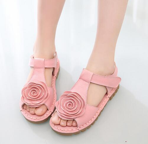 2acc8a797a28 The First Layer Of Leather Sandals Korean Girls Flower Girls Large Soft  Bottom Sandal Shoes Summer New Tide Kids Branded Shoes Sneakers For  Children From ...