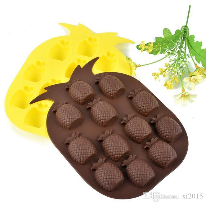 Ice Cream Tools High quality Brand New Ice Maker Mould Bar Party Drink Pineapple Shape Ice Cube Freeze Mold tray