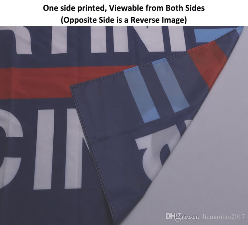 3x5 футов Пользовательский флаг и баннер Любой логотип Любой цвет 100D Полиэстер Цифровая печать с крышкой вала Втулки