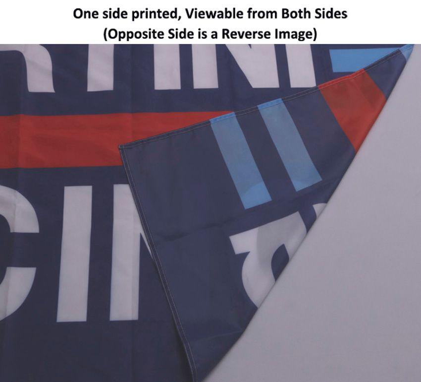 3x5 piedini bandiera personalizzata e banner qualsiasi logo qualsiasi colore 100D poliestere stampa digitale con copricatena