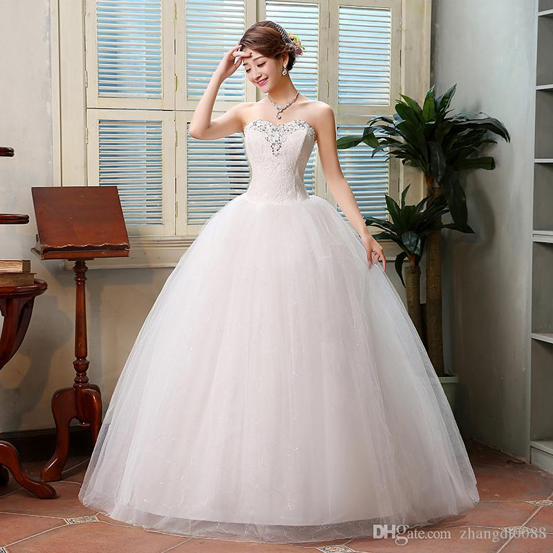 Quick Dhl Ems Epacket Hot Selling White Fashion Wipes Bosom Wedding Dresses Hs079 120 Strapless Silk Dress Discount From