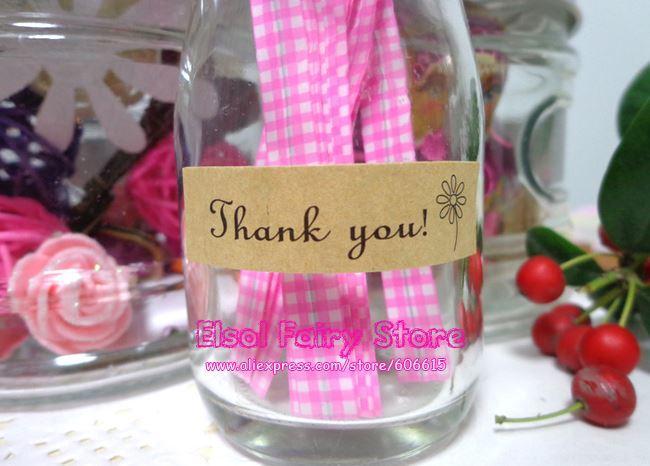 Commercio all'ingrosso adesivo bella guarnizione 'grazie' Etichetta sigillo regalo etichetta di carta regalo bomboniera borsa regalo Candy Box Decor