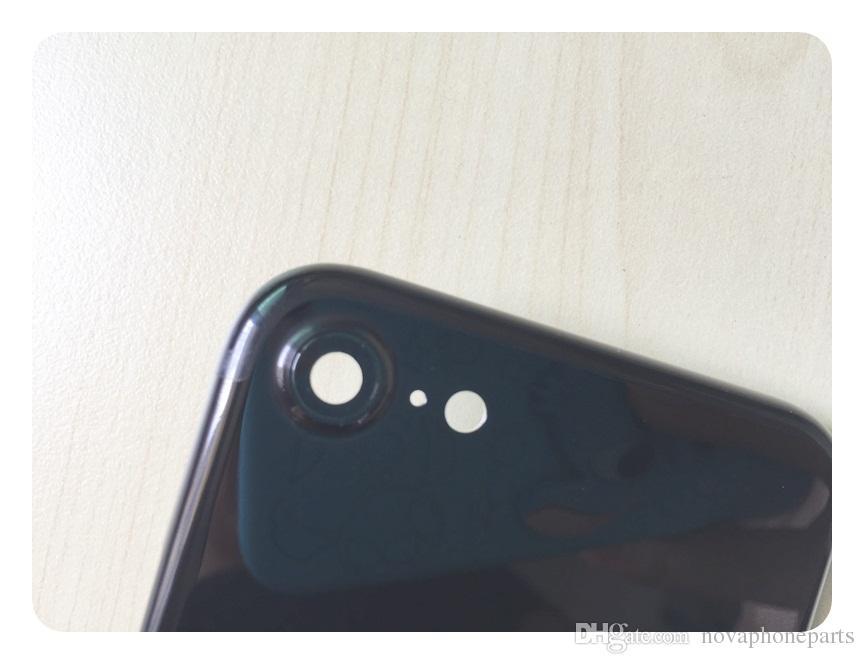 Para iphone 7 7g plus Cubierta trasera de la carcasa de metal Puerta de la batería Negro negro mate Oro negro plateado Carcasa de batería Batería; DHL libre