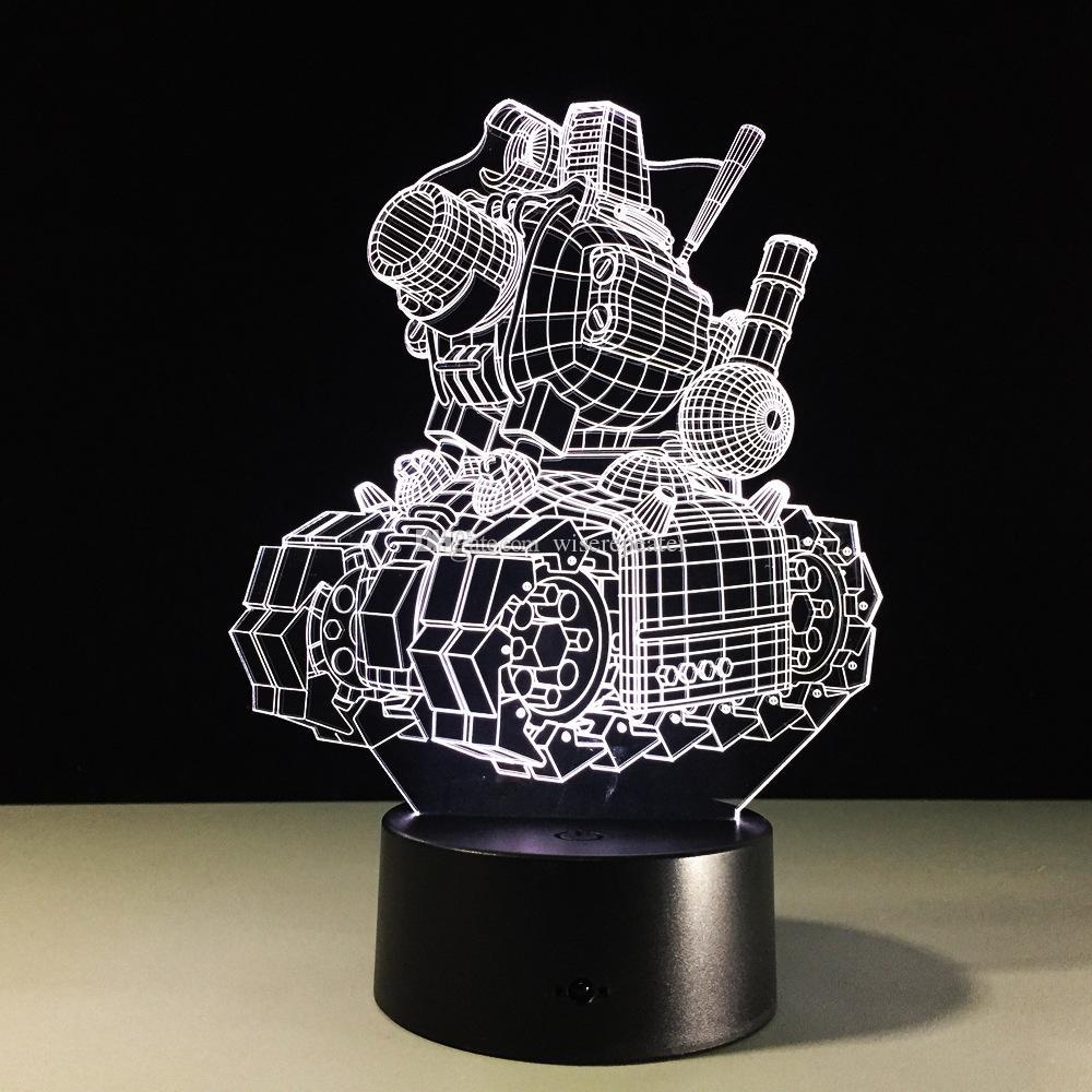 بارد مصباح تانك 3D هدية ليلة الخفيفة 7 أضواء RGB DC 5V USB شحن 5th دروبشيب شحن مجاني