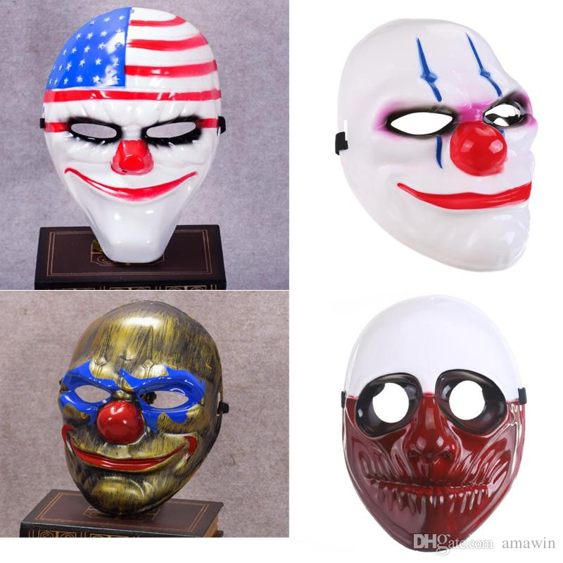 new fashion pvc scary clown mask halloween mask for antifaz party mascara carnaval halloween costumes masks masquerade halloween costumes masquerade from