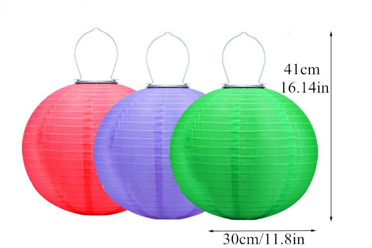 Hot sell Outdoor Garden Solar Fairy Lights LED Festival Lanterns Hanging China Celebration LampLandscape Lighting Waterproof