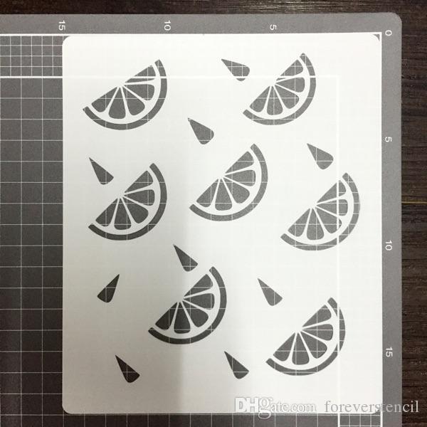 Satın Al Arka Plan şablonlar 2 Parça Masking şablon Kitleri Limon Ve