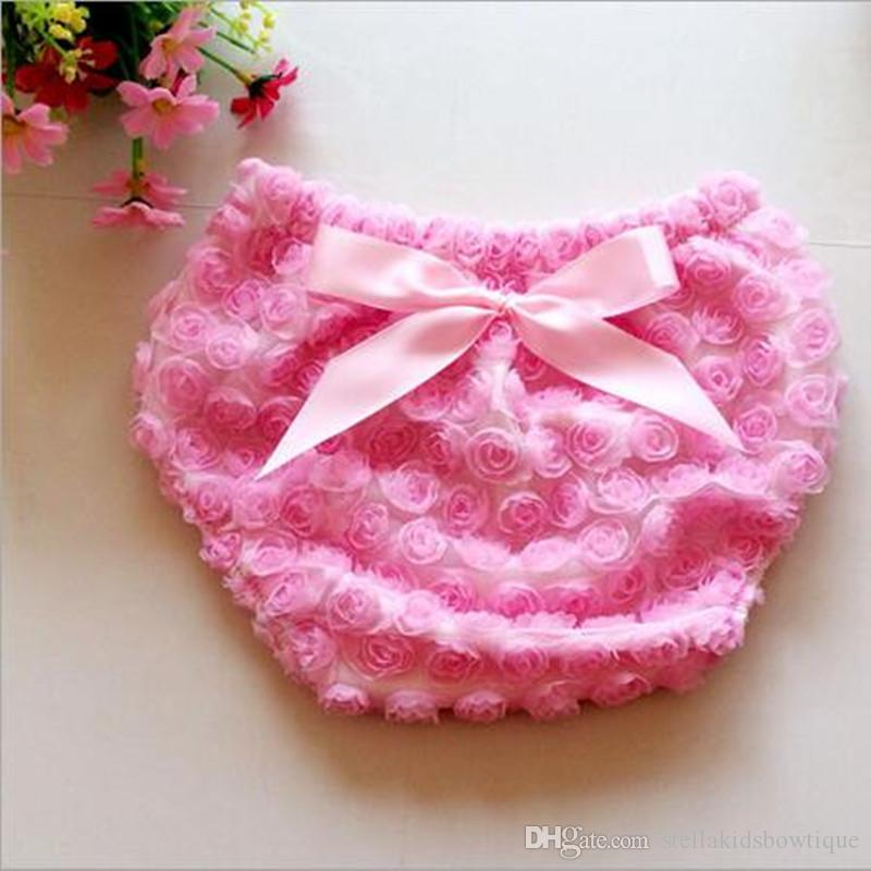 Chic Valentine's Day Baby Girls Bloomer Rose Newborn Diaper Cover Valentine Rose Baby Shorties with Bow My first Valentine