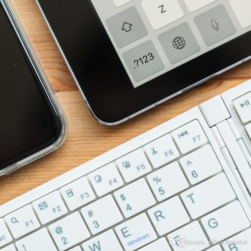 Mini Folding Foldable Bluetooth Wireless Keyboard Slim For Apple iPad Laptop PC