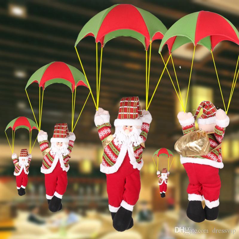 Santa Claus Parachute Christmas Decorations Skydiving Doll