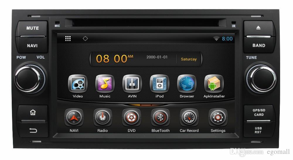 Pure Android 4.4 7inch Car DVD Player for Focus/Mondeo/S-max/C-max/Galaxy/Fiesta Form/Fusion/Connect with GPS 3G Wifi Map Radio