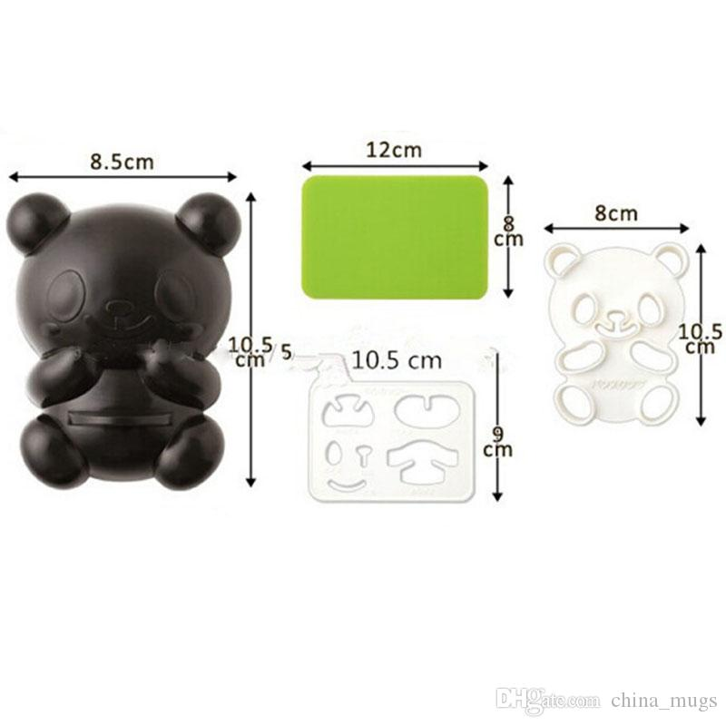 3d silicone moulds panda shape Cupcake Molds christmas Sandwich Biscuit Cupcake Pastry Paste cake decorating supplies kichen gadgets