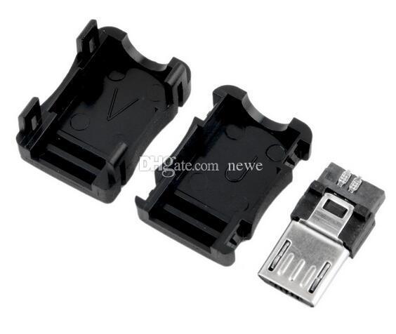 Rede de Computador Quente Cabos Conectores Micro USB 5 Pinos T Port Macho Plugue Tomada Conector Tampa De Plástico