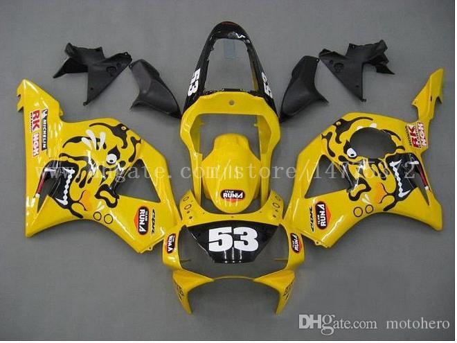 Abs fairings fit for HONDA CBR900RR 954 2002-2003 CBR900RR 02-03 CBR900 RR 2002-2003 954 fairing kits #s8m21 Yellow