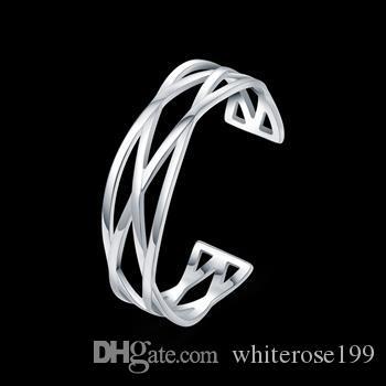 Commercio all'ingrosso - regalo di Natale di prezzi più bassi al minuto, trasporto libero, nuovo braccialetto d'argento 925 di modo yB045