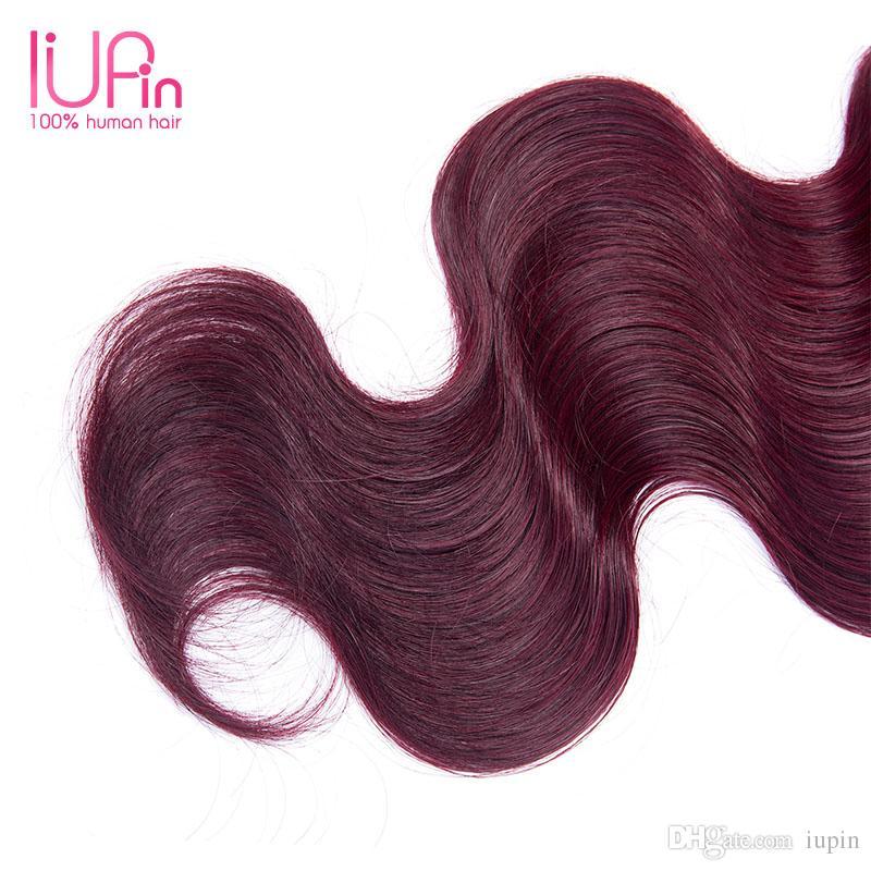 Grade 7A Brazilian Hair Body Wave 4 Bundles Deal Ombre Human Hair 1B-99J Unprocessed Virign Peruvian Malaysian Indian Body Wave Hair Weaving