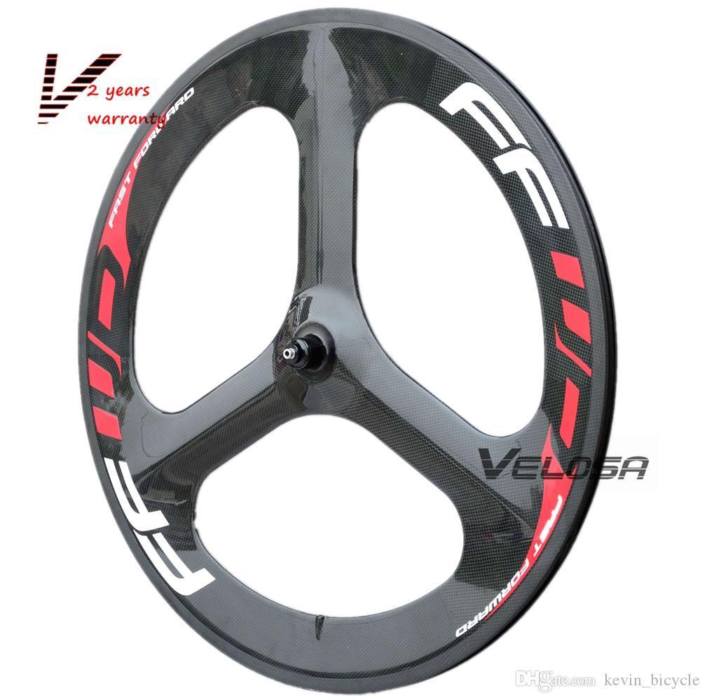 Track/Time Trial/Triathlon bike carbon wheelset front 3 spoke rear disc carbon wheel, 3 spoke + disc wheelset