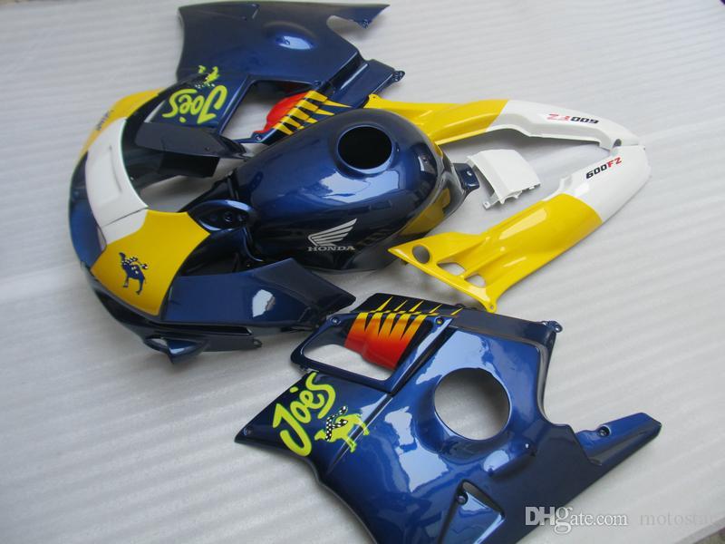 Kit Carénage pour Honda CBR60O F2 91 92 93 94 carénages bleu jaune fixés CBR600 F2 1991-1994 OY02
