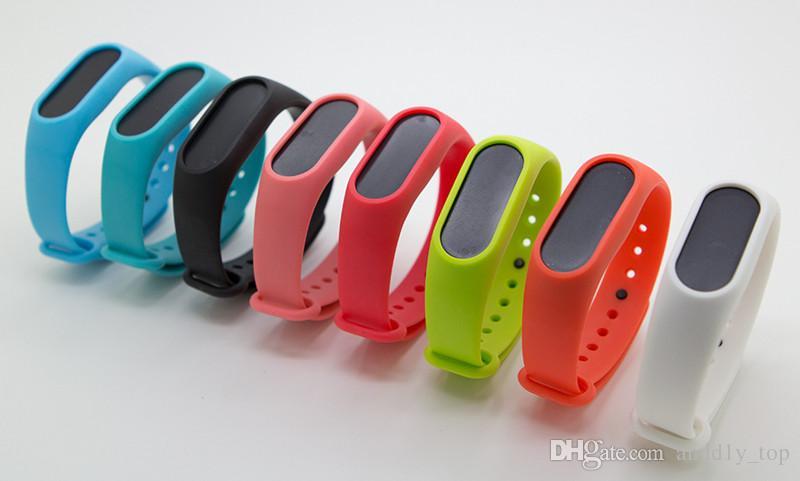 Xiaomi Mi Band 3/4/2 Kayış barcelet Renkli Silikon Kayış İçin Miband 4 Değiştirme Akıllı Bant Aksesuarları İçin Mi Band İçin
