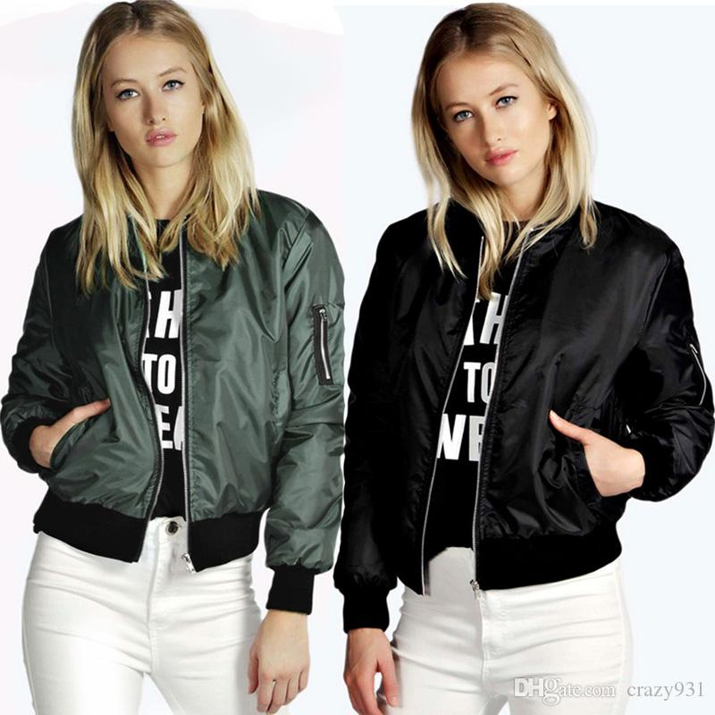 Woman Autumn Jacke Street Style Bomber Jacket Women Thin Zipper ...