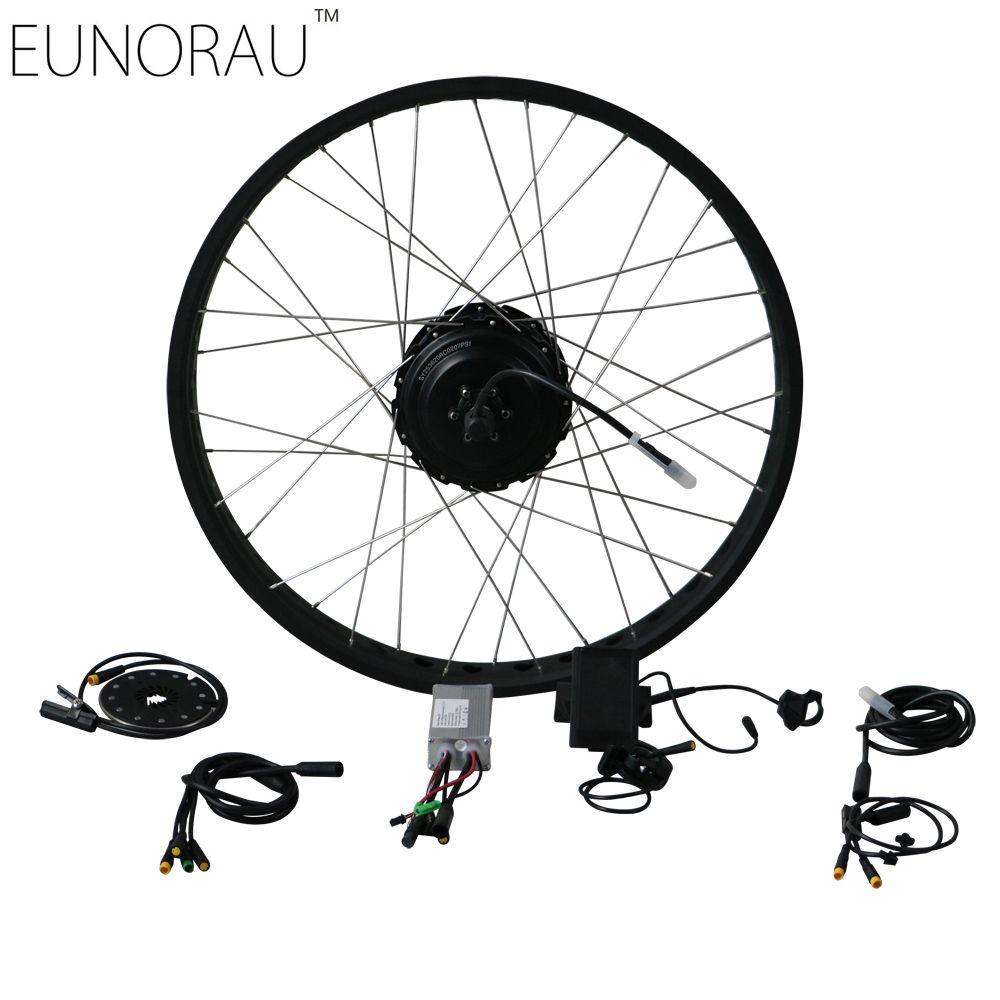 Electric Bike conversion Kit 36V 500W Fat Tire Electric Bicycle Wheel Rear  Ebike Conversion Kits 20 ,26